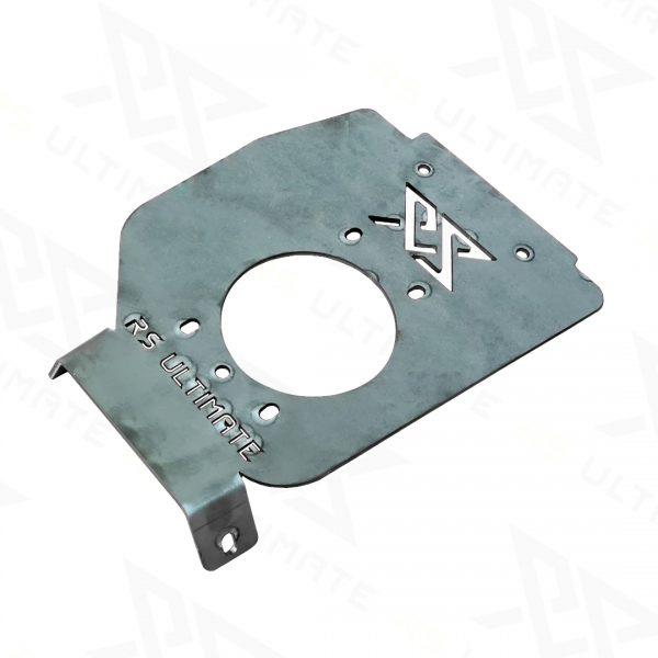 Podstawa / Płyta do zamocowania hamulca ręcznego z lewej strony bez otworowania do tunelu BMW E36 Czarna - GRUBYGARAGE - Sklep Tuningowy